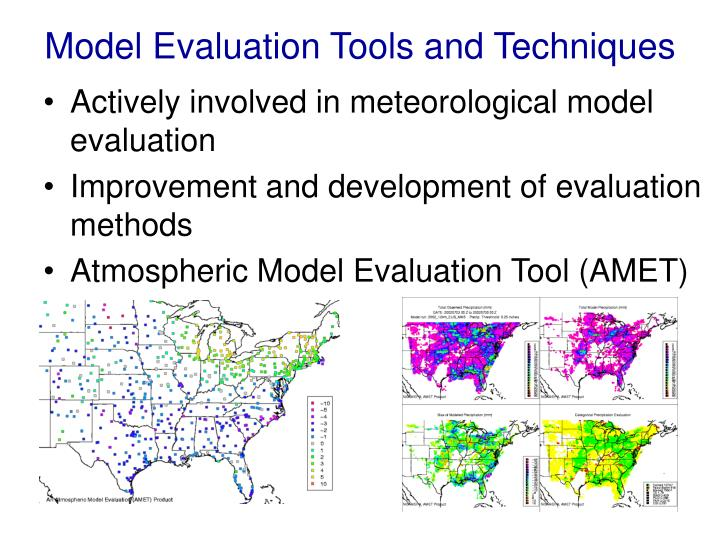 Model Evaluation Tools and Techniques