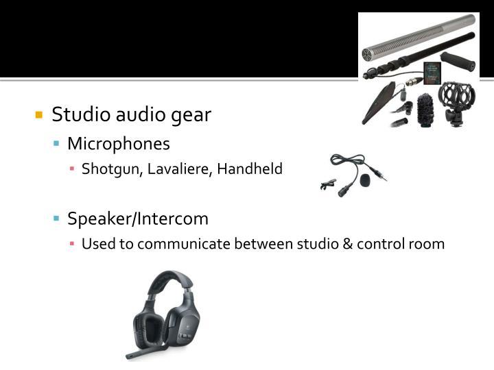 Studio audio gear