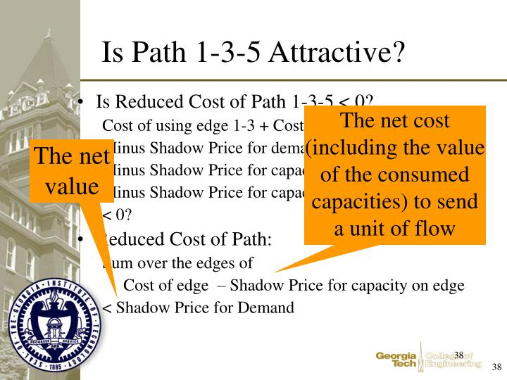 Is Reduced Cost of Path 1-3-5 < 0?
