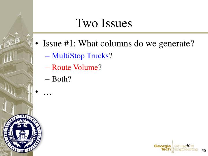 Issue #1: What columns do we generate?