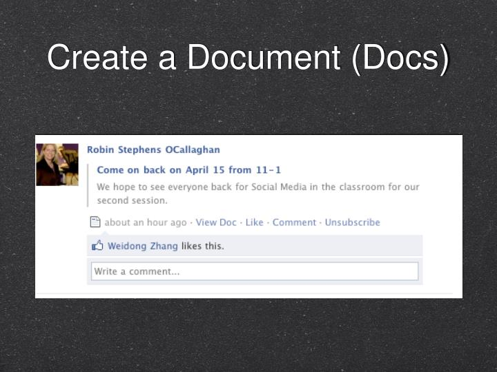 Create a Document (Docs)