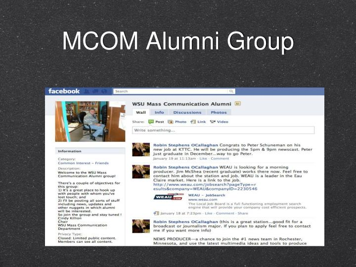 MCOM Alumni Group