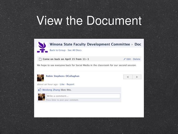 View the Document