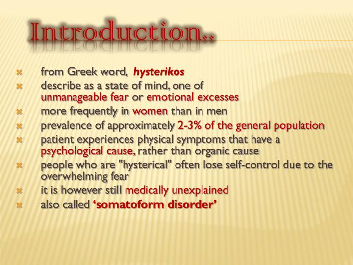 From Greek word,