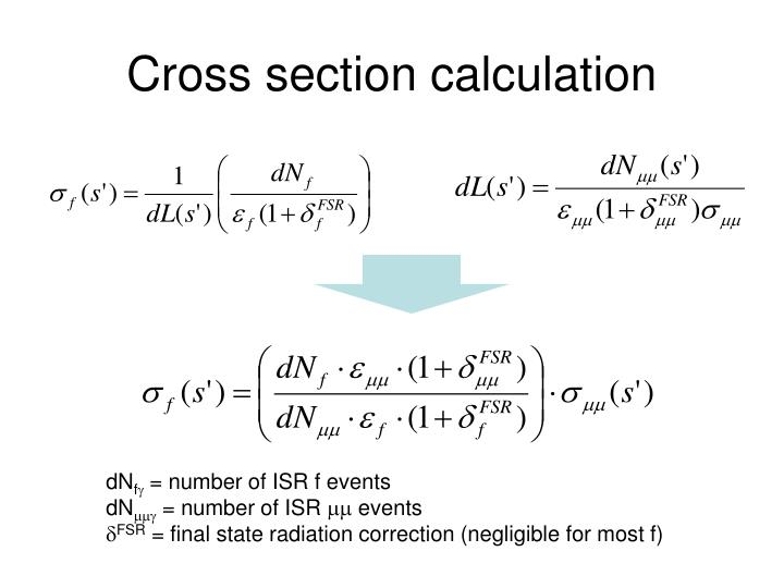 Cross section calculation