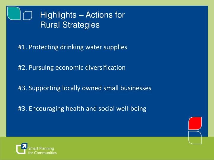 Highlights – Actions for