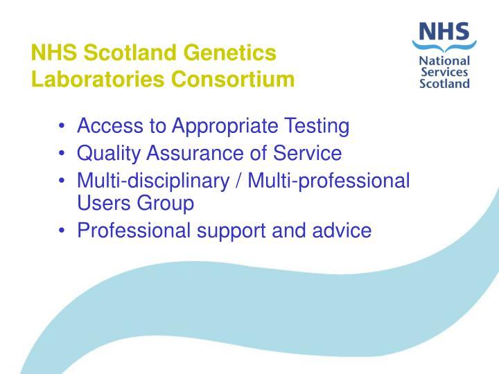 NHS Scotland Genetics Laboratories Consortium