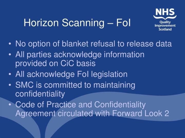 Horizon Scanning – FoI