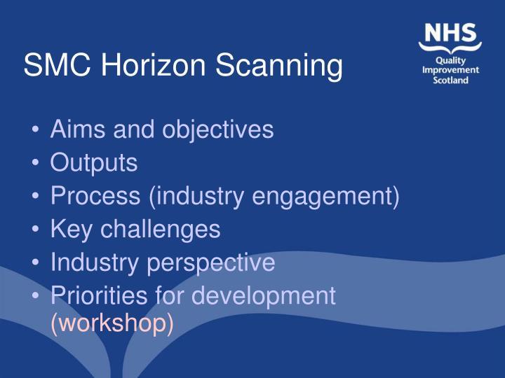 Smc horizon scanning