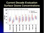current decade evaluation surface ozone concentrations
