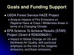 goals and funding support