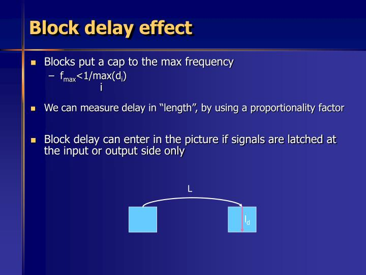Block delay effect