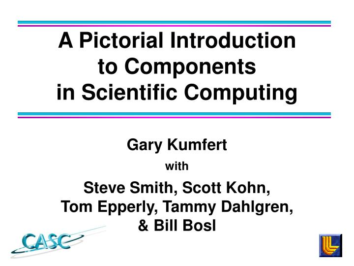A pictorial introduction to components in scientific computing
