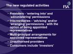the new regulated activities