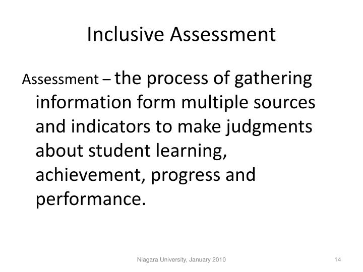Inclusive Assessment