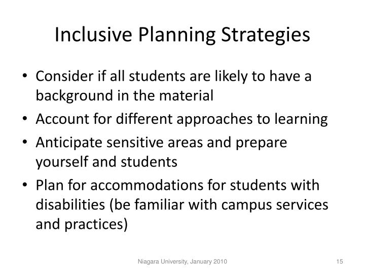 Inclusive Planning Strategies