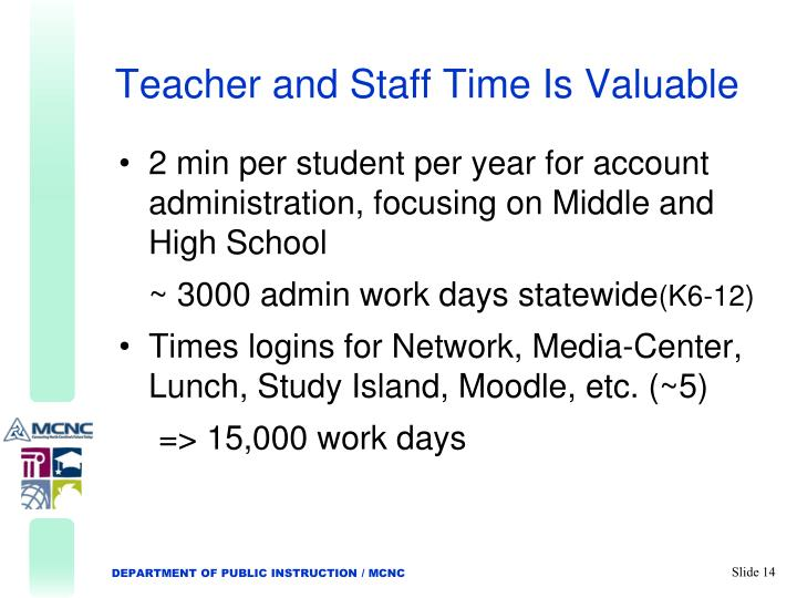 Teacher and Staff Time Is Valuable