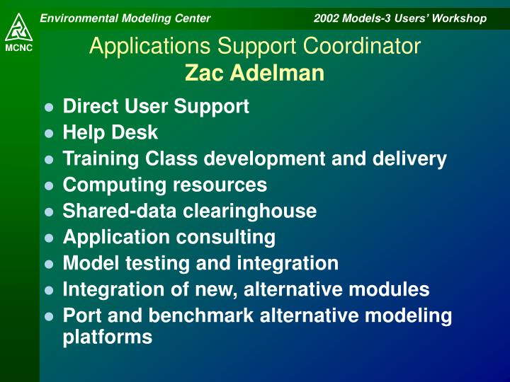 Applications Support Coordinator