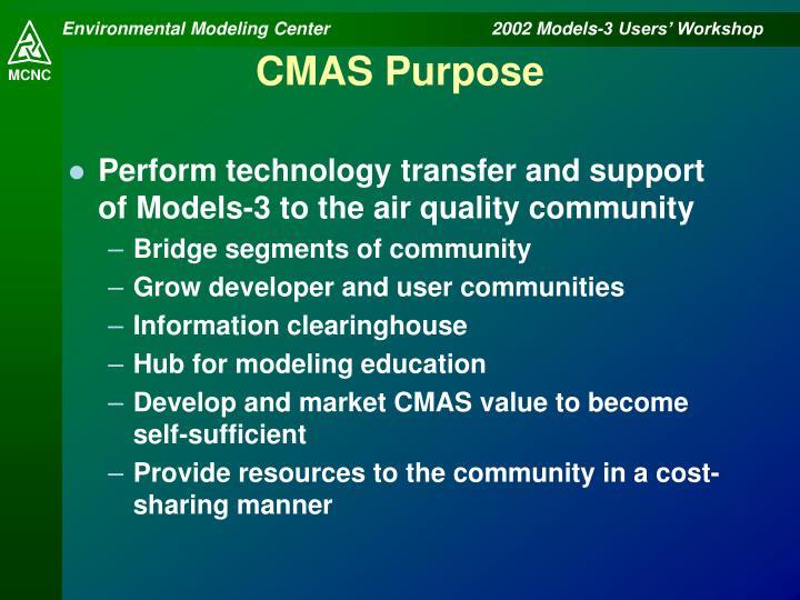 Cmas purpose