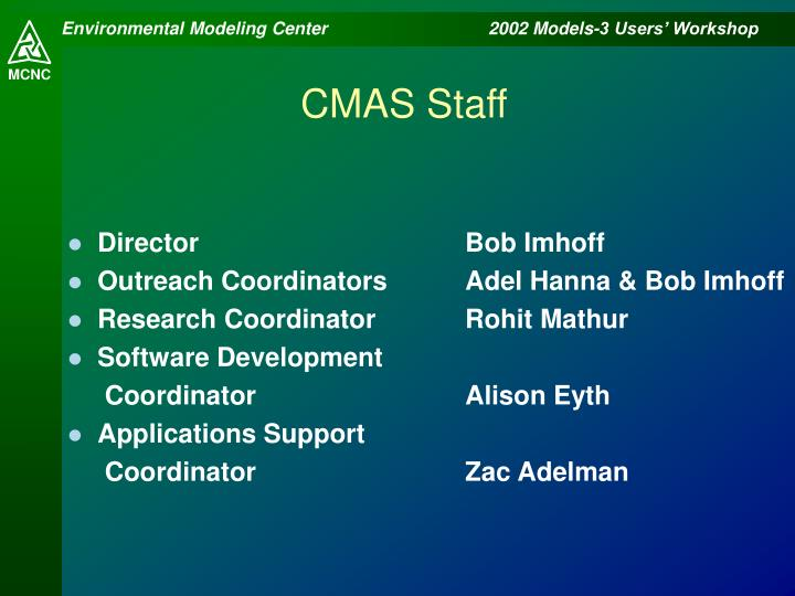CMAS Staff