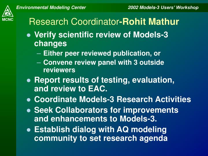 Research Coordinator