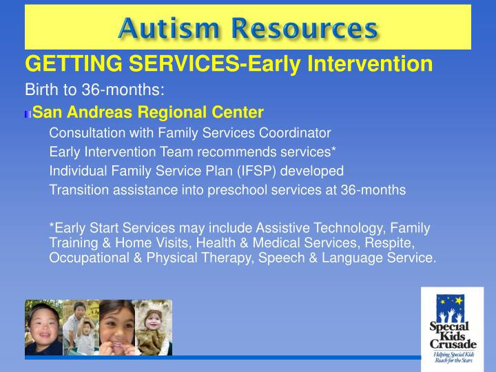 GETTING SERVICES-Early Intervention