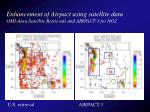 enhancement of airpact using satellite data omi aura satellite retrievals and airpact 3 for no2