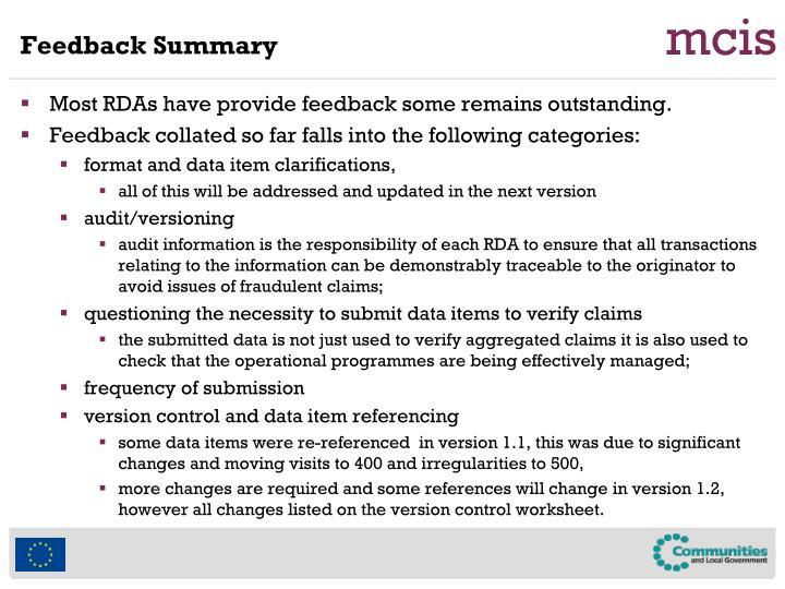 Feedback Summary