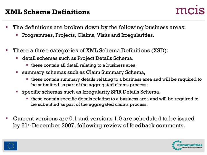 XML Schema Definitions