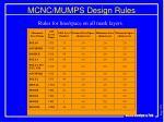 mcnc mumps design rules