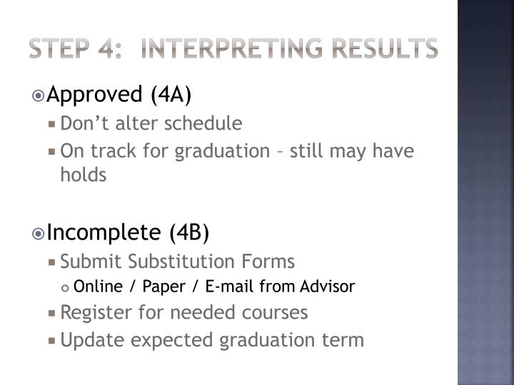 Step 4:  Interpreting Results