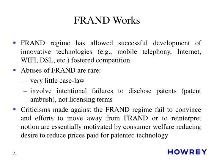 FRAND Works