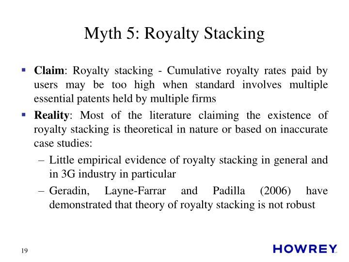 Myth 5: Royalty Stacking