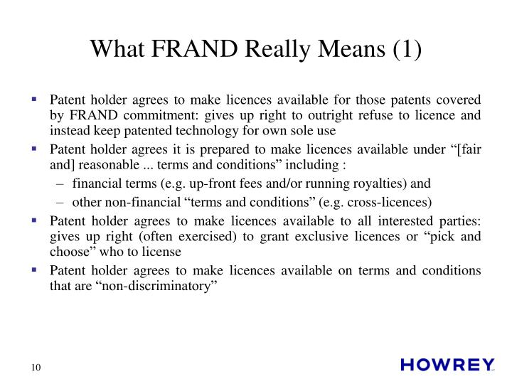 What FRAND Really Means (1)