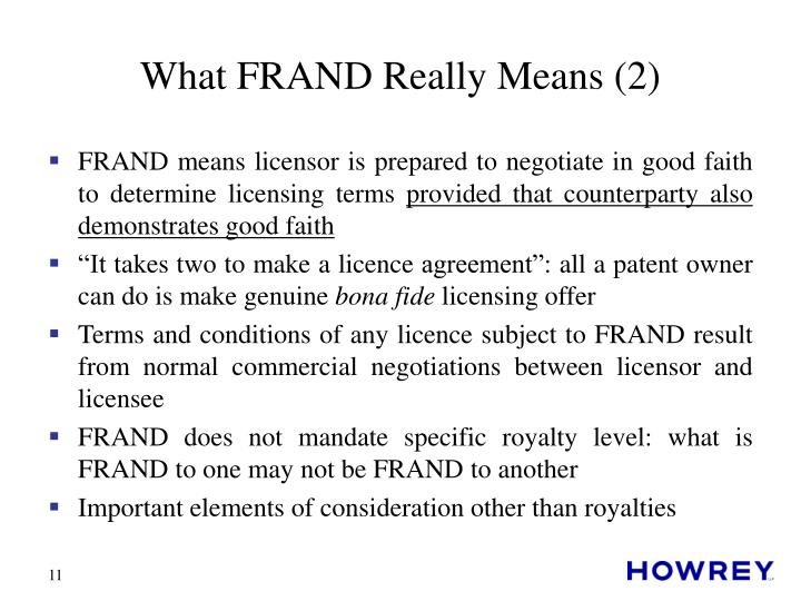 What FRAND Really Means (2)