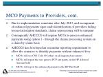 mco payments to providers cont