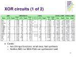 xor circuits 1 of 2