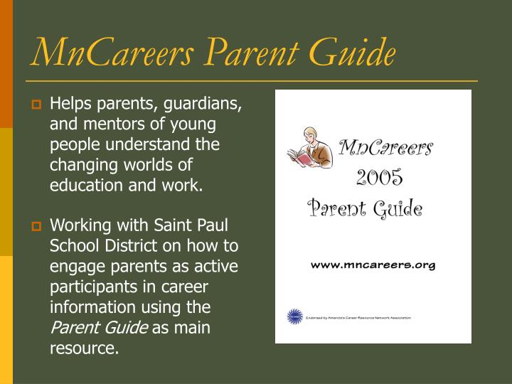 MnCareers Parent Guide