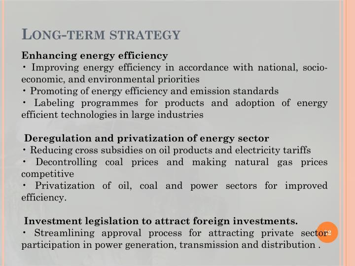 Long-term strategy