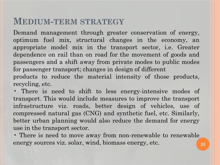 Medium-term strategy
