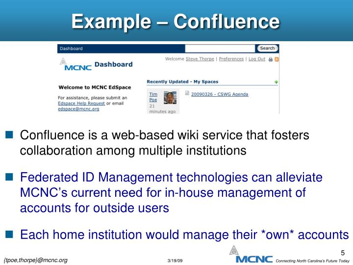 Example – Confluence