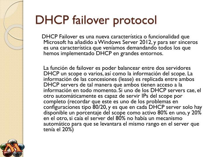 Dhcp failover protocol1