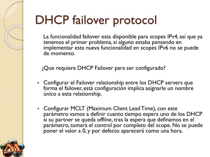 Dhcp failover protocol2