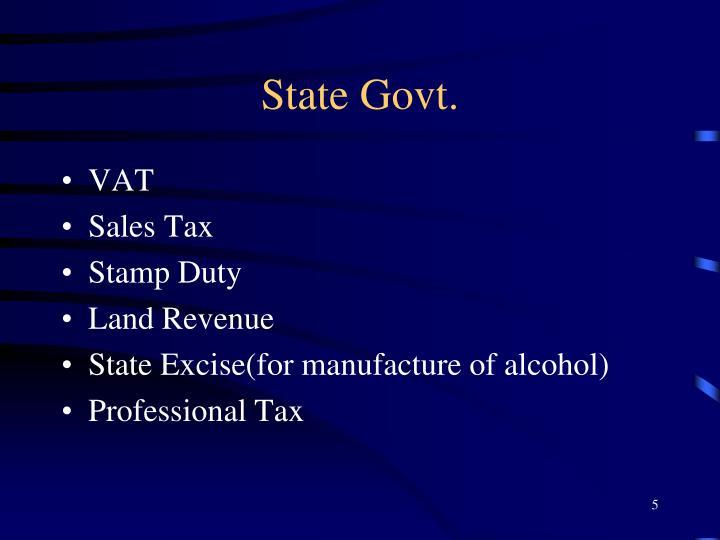 State Govt.