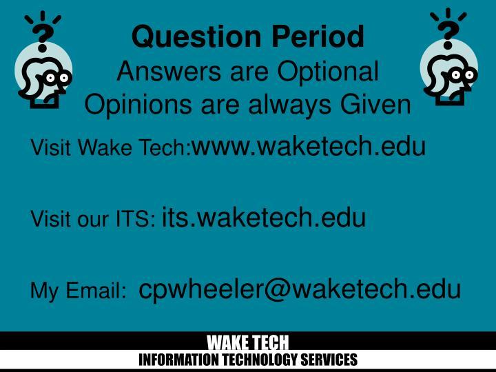 Visit Wake Tech: