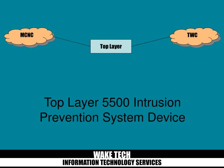 Top Layer 5500 Intrusion Prevention System Device