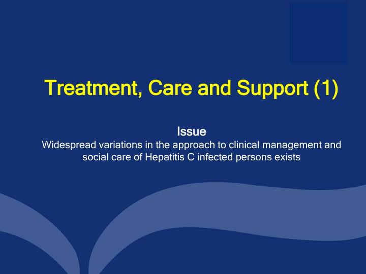 Treatment, Care and Support (1)