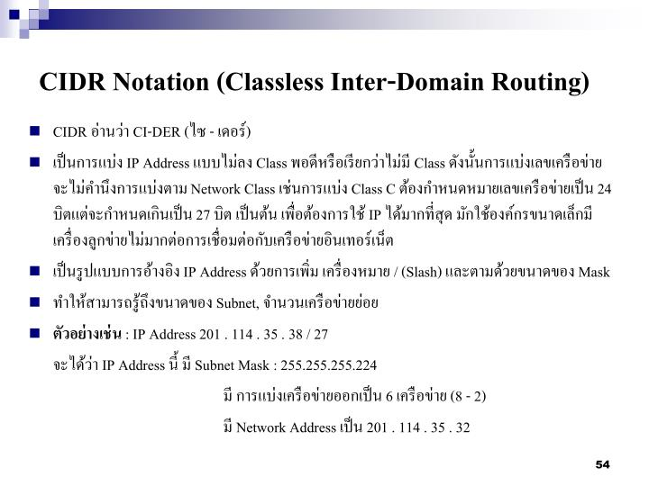 CIDR Notation (Classless Inter-Domain Routing)