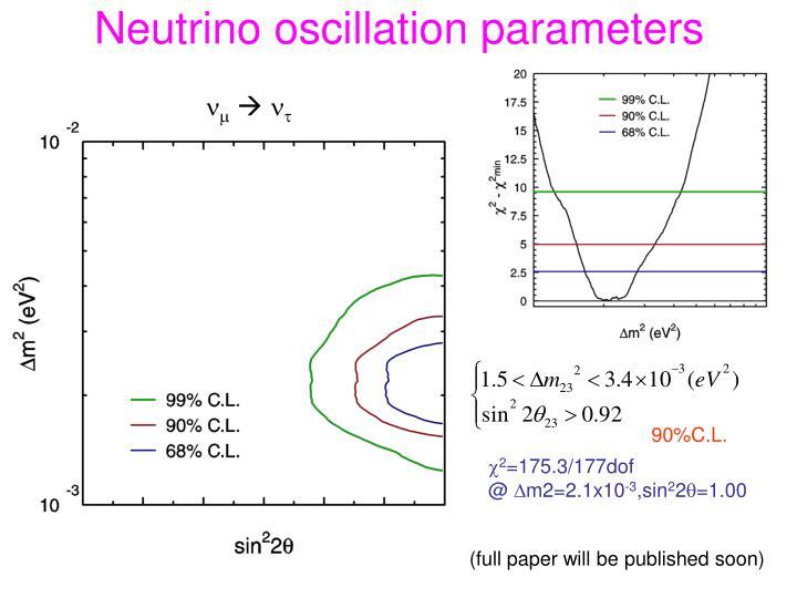 Neutrino oscillation parameters
