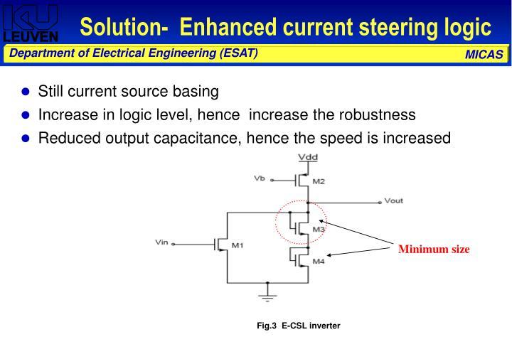Solution-  Enhanced current steering logic